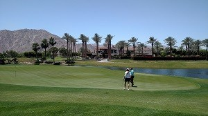 Golfing in Indian Wells