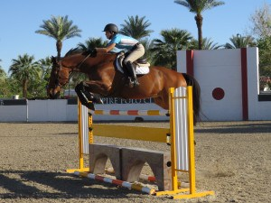 Jumpers are preparing for the desert HITS show in Thermal, CA.